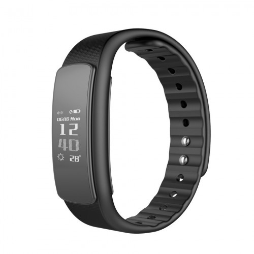 iWOWN fit i6 HR OPASKA FIT ZEGAREK SMARTBAND WATCH czarny