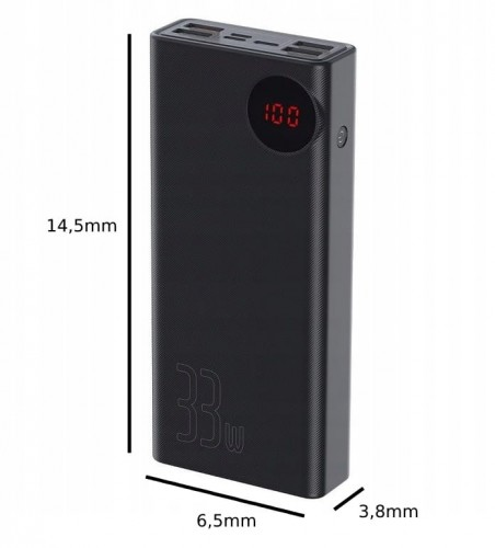 BASEUS POWER BANK 5xUSB 30000mAh LCD QC 3.0 PD 33W