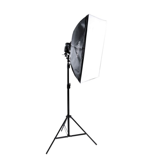 Zestaw Softbox 50x70 + adapter + dyfuzor Ravencam