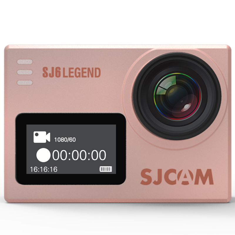 SJ6 LEGEND SJCAM WIFI 4K 60FPS PANASONIC ROSE GOLD